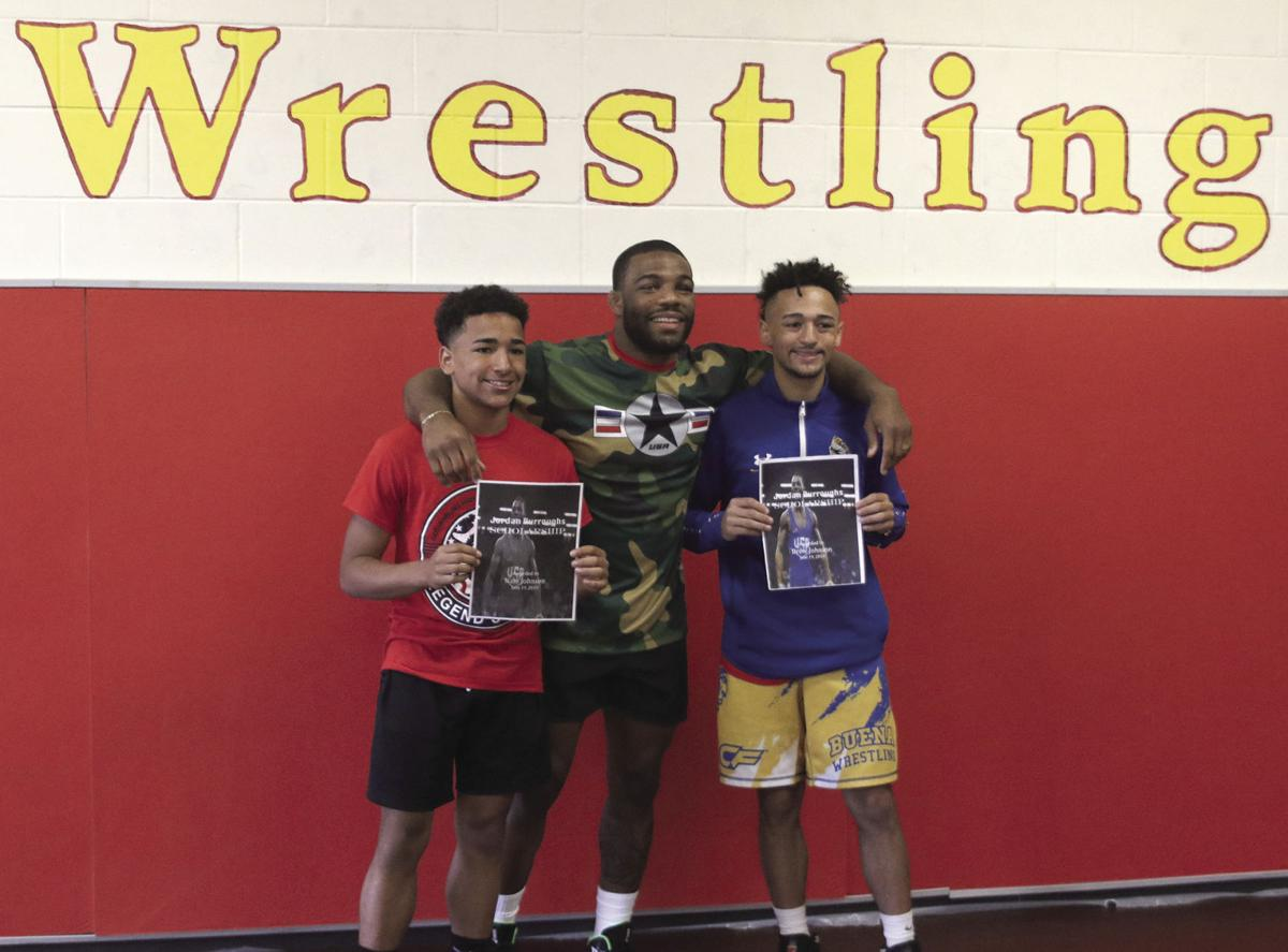 High school wrestler at center of national news story in December gets chance to meet former Husker, Olympic gold medalist Jordan Burroughs at Gothenburg's Legends Wrestling Camp