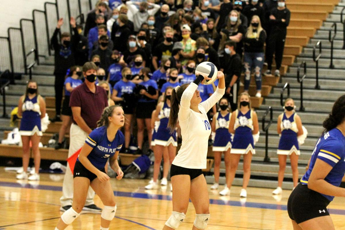 North Platte volleyball sweeps Gering