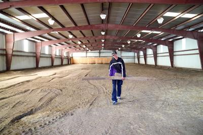 Clean up begins on new MPCC rodeo team arena near State Farm Road