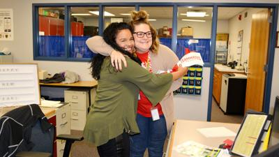 A hug and a 'thank you': TeamMates honors volunteers during National Mentoring Month