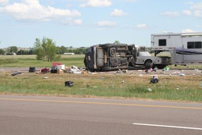 Rollover wreck eastbound on Interstate 80 just outside of