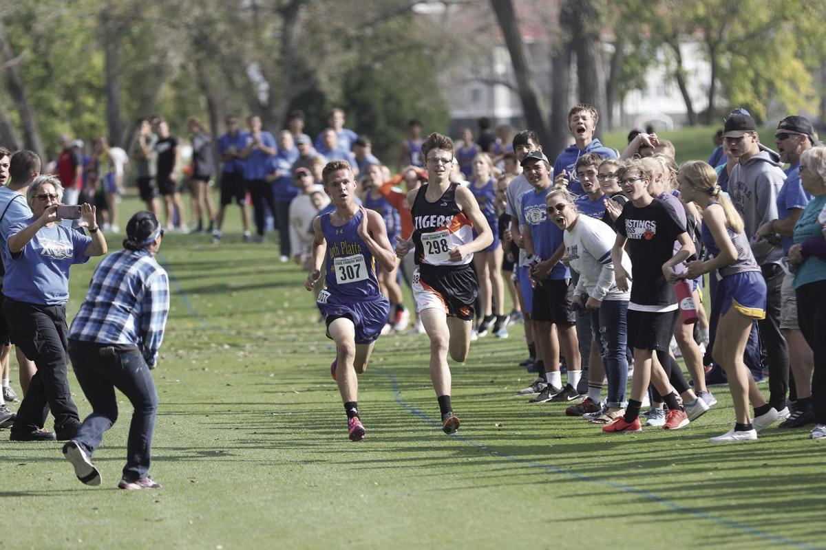 Evan Caudy wins photo finish, Zarah Blaesi has standout performance for NP at GNAC Cross Country Championships