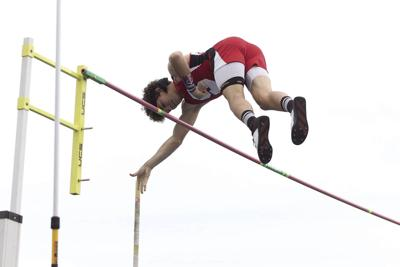 Sutherland's Connor Floyd takes 1st in pole vault; Cozad's Megan Burkholder wins Class B for second consecutive year