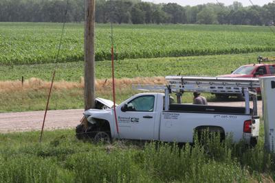 Pickup crashes into semi on Interstate 80 Monday morning