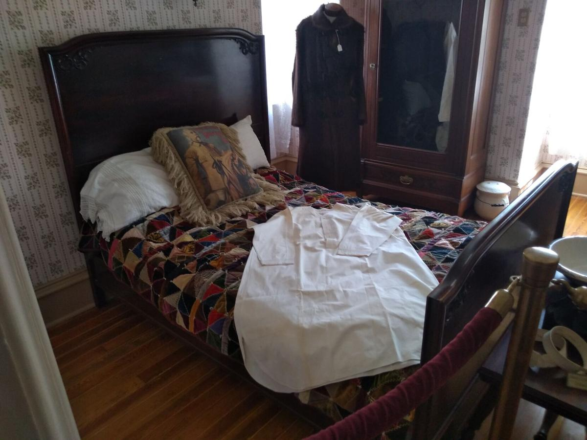 Cody's Irma Hotel bed and BBCW wardrobe, guest room, 2nd floor, Scout's Rest.jpg
