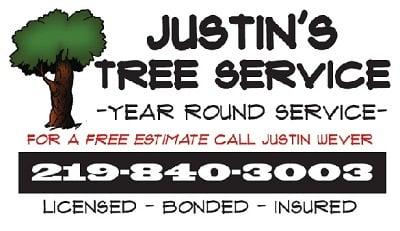 justins tree service - Tree Service Business Cards