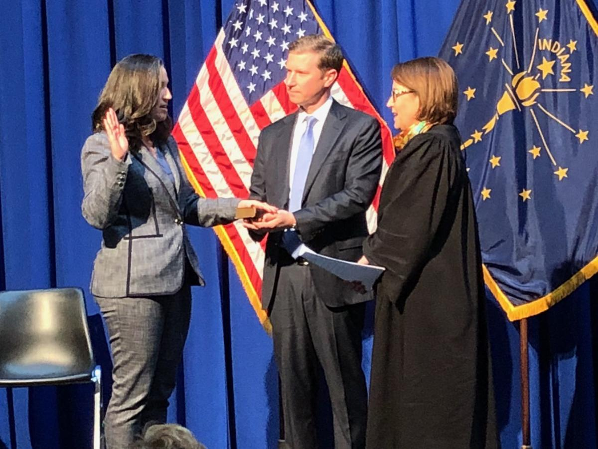 Women re-elected to statewide offices are sworn-in for new, four-year terms