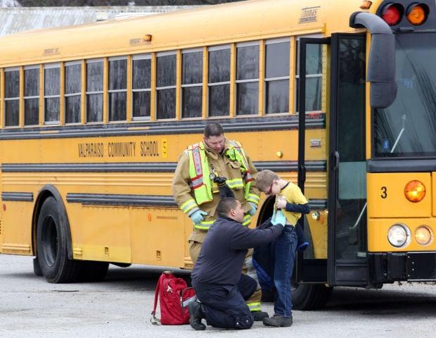 Valparaiso school bus collides with Superior Ambulance