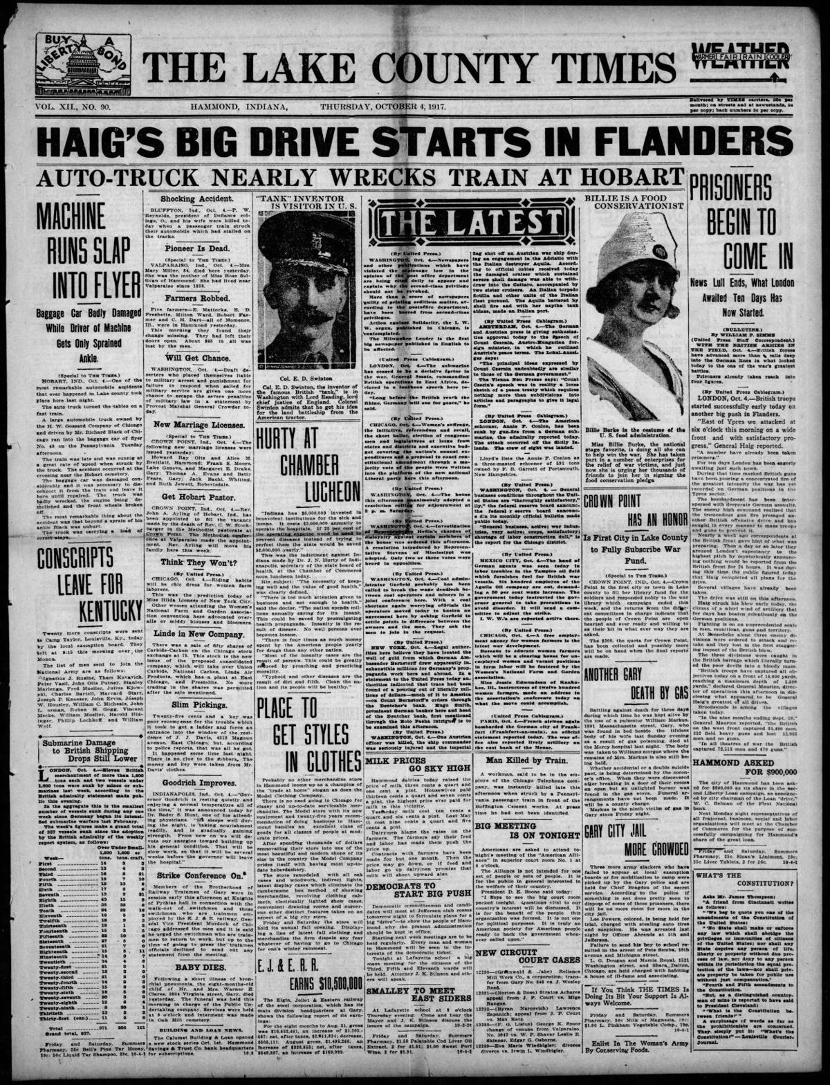 Oct. 4, 1917: Haig's Big Drive Starts in Flanders