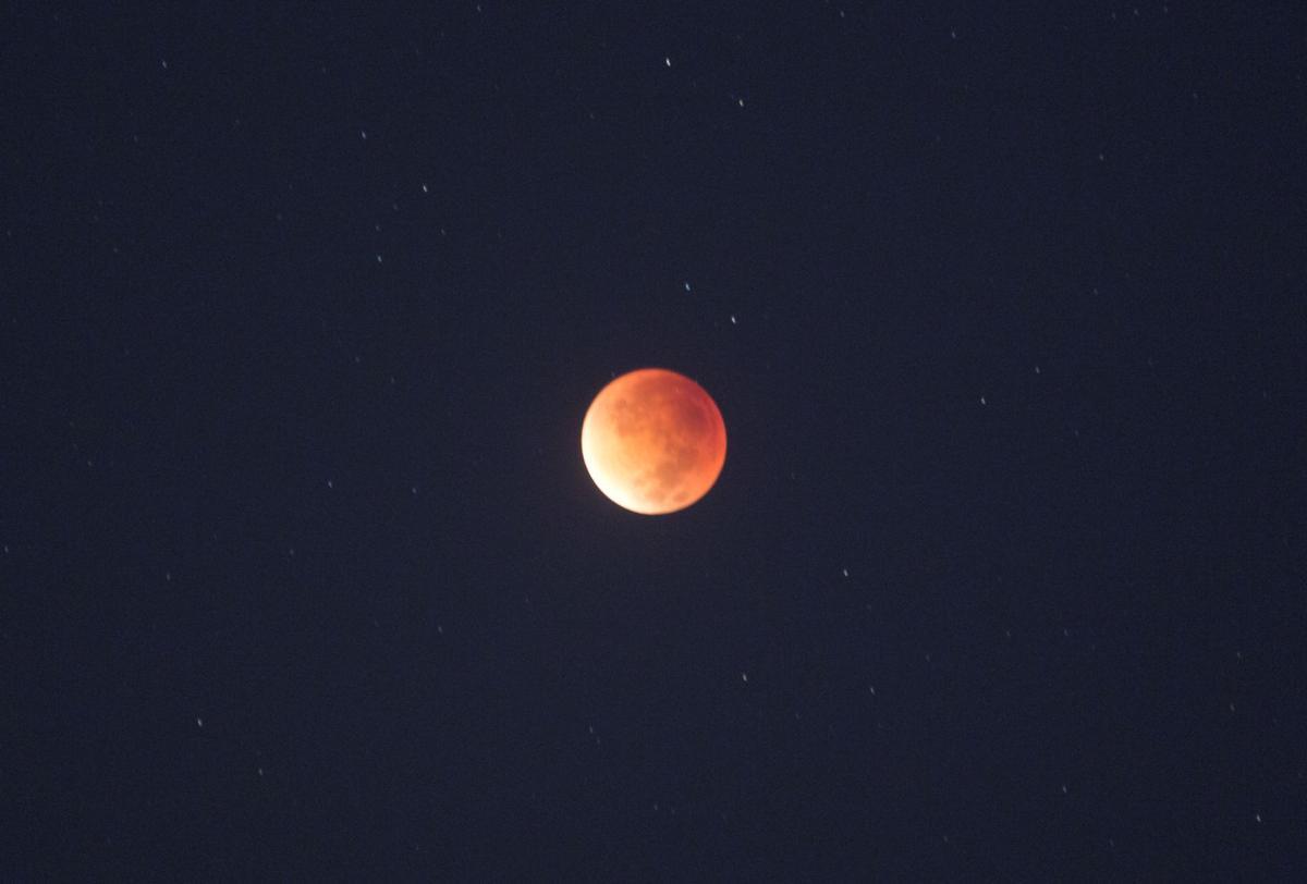 Mideast Palestinian Supermoon Eclipse