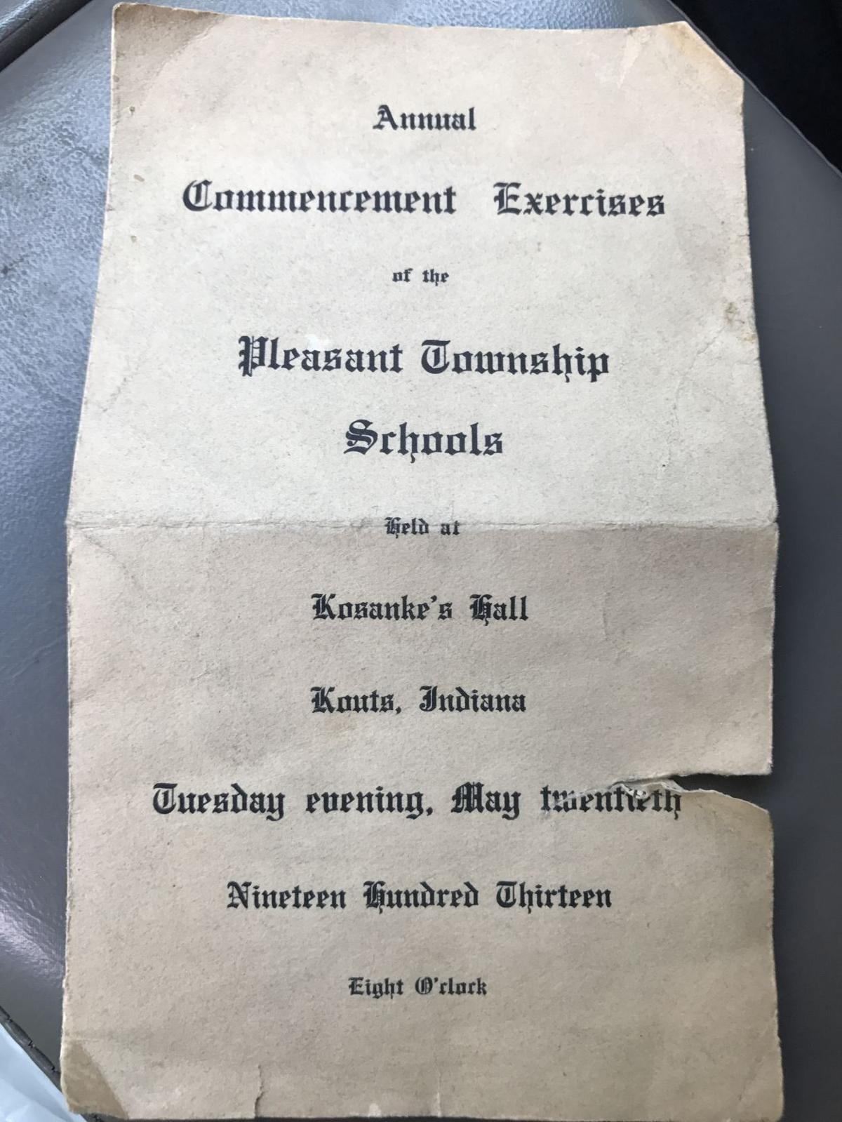 High school commencement programs
