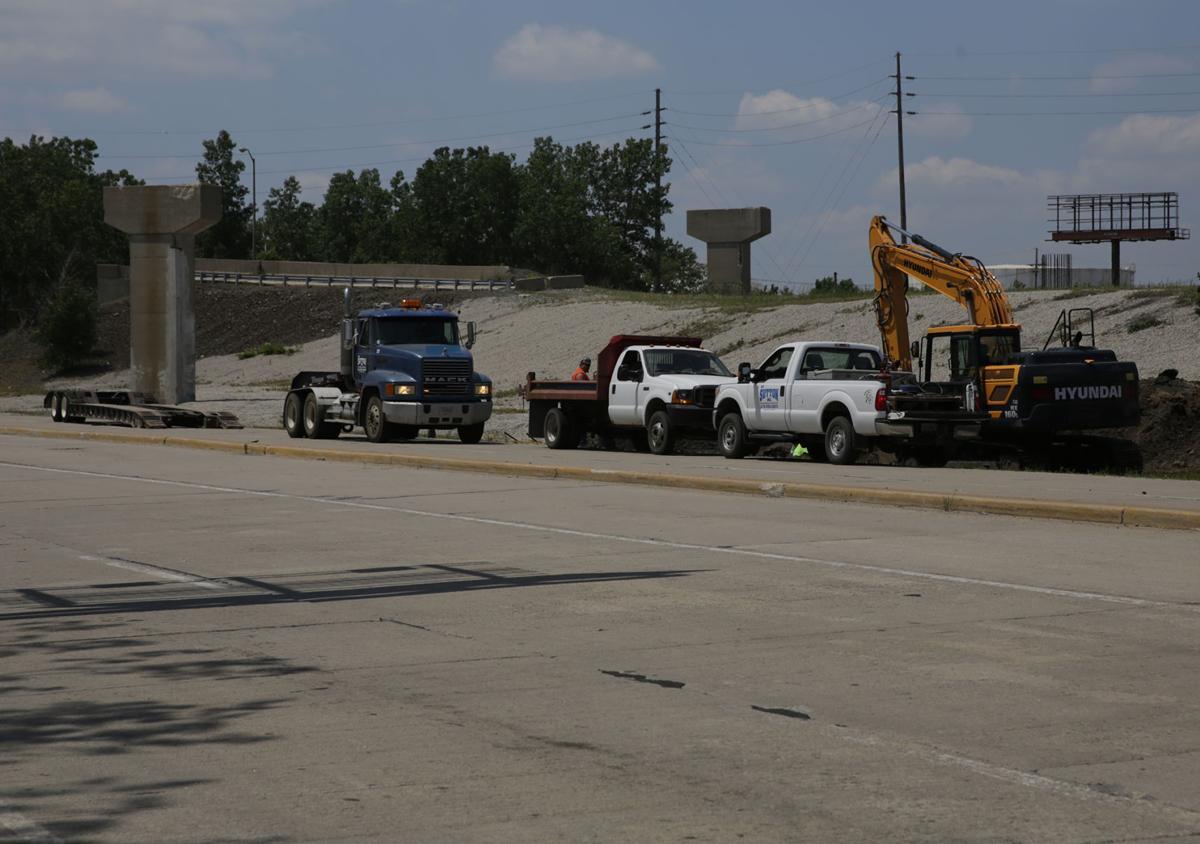 Cline Avenue bridge construction