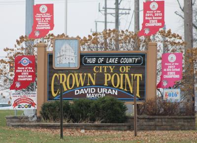 Crown Point Welcome Sign