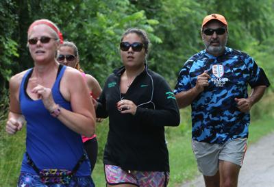 Rick Suarez training for a marathon