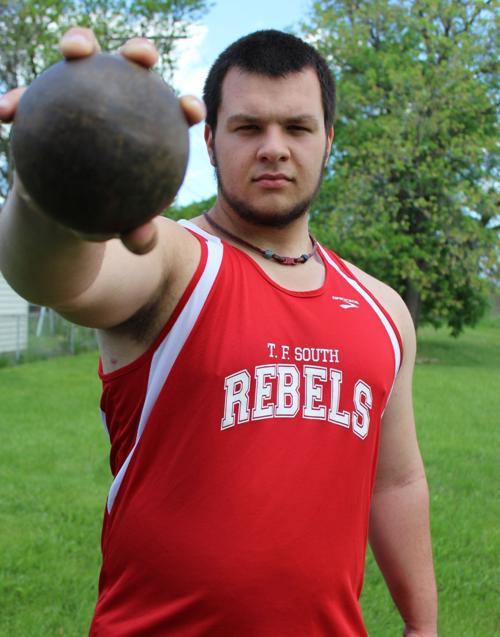 T.F. South shot putter Adam Kessler