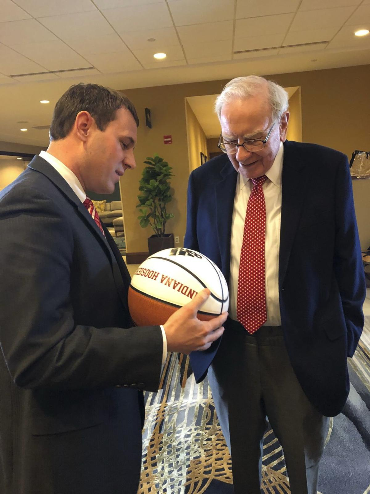 Chesterton native meets Oracle of Omaha Warren Buffett