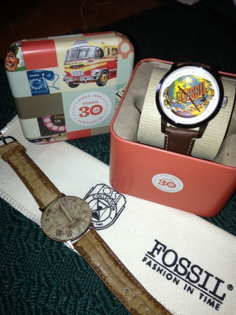 2014 fossil watch 30th anniversary design and 1994 10th anniversary