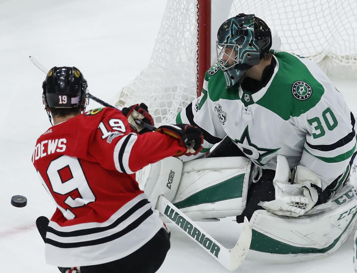Stars Blackhawks Hockey