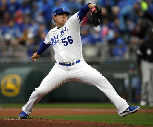 Keller pitches Royals past White Sox 5-3 in rainy opener