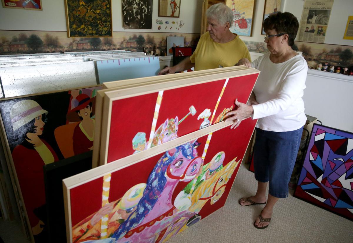 James and Linda Mackey art show
