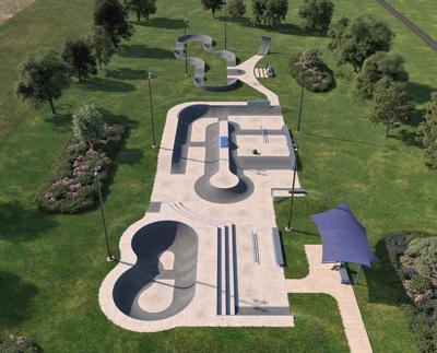 St. John skate park design July 2021