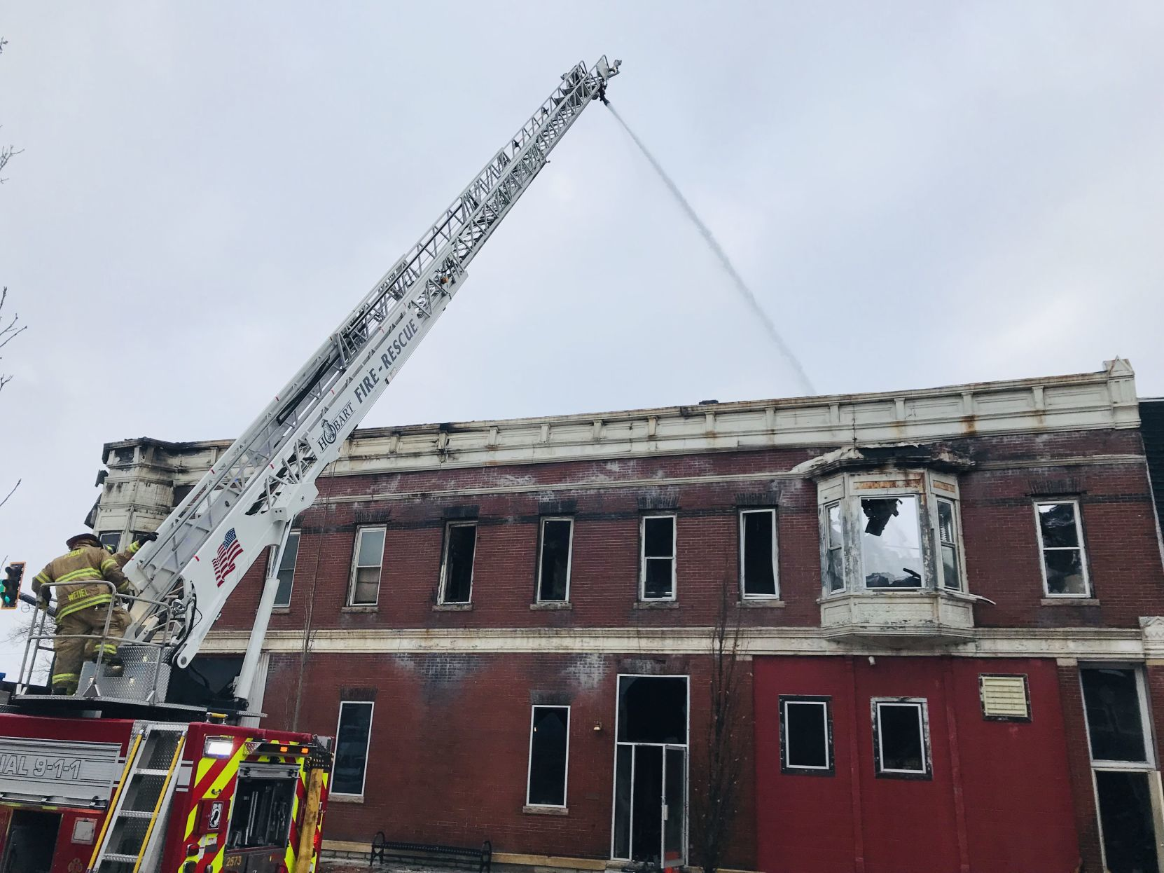 update hobart fire displaces several residents fate of historic rh nwitimes com