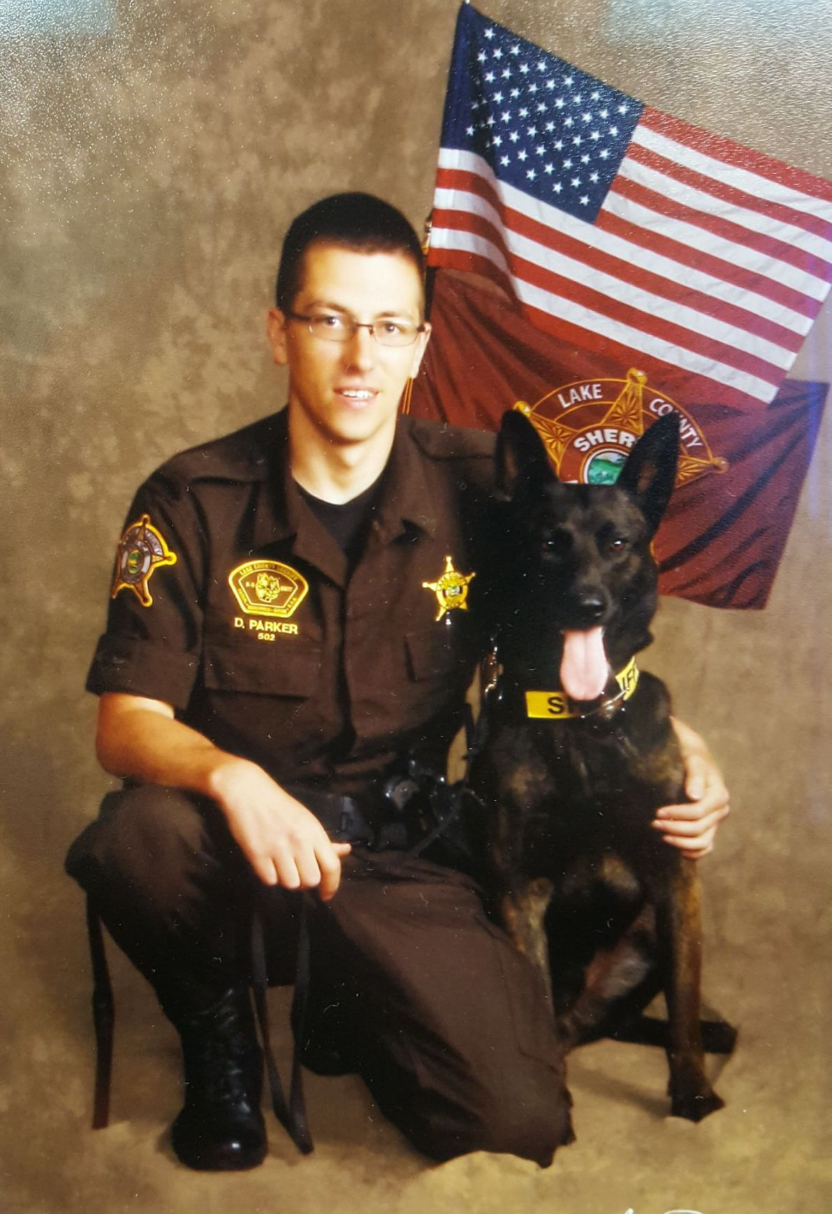 Officer Doug Parker and K-9 Rocky
