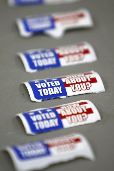 Voting at Frank Hammond Elementary School