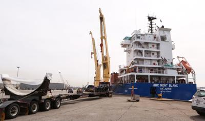 First ship arrives at the Port of Indiana