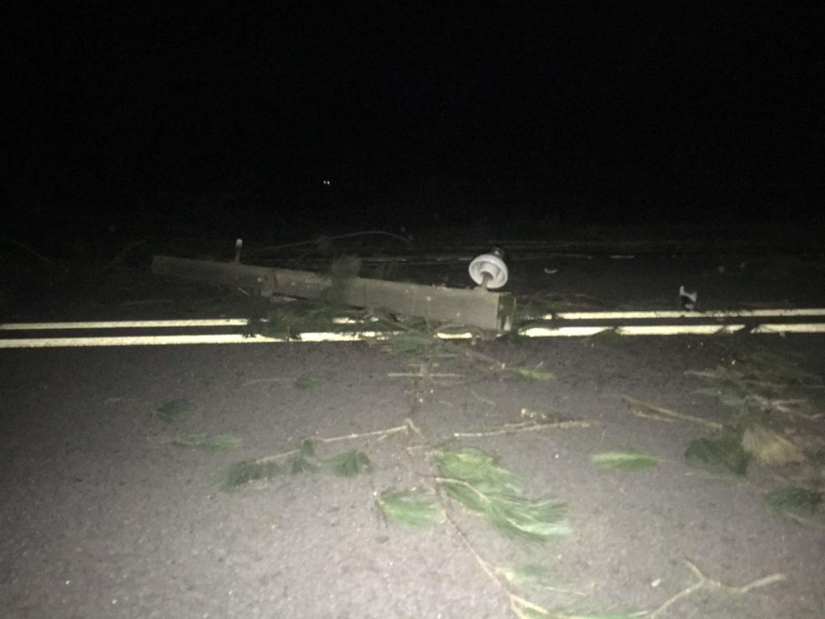 Storm damage in Lowell