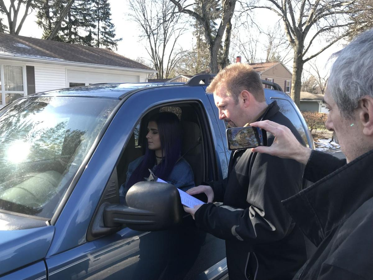 Porter County Career Center students film videos warning of distracted driving