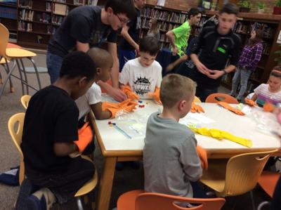 Hebron's National Junior Honor Society Science Night for second-graders