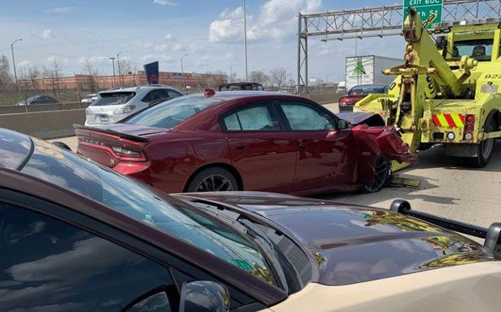 Armed driver in stolen Dodge Charger Hellcat leads chase through Lake County, police say