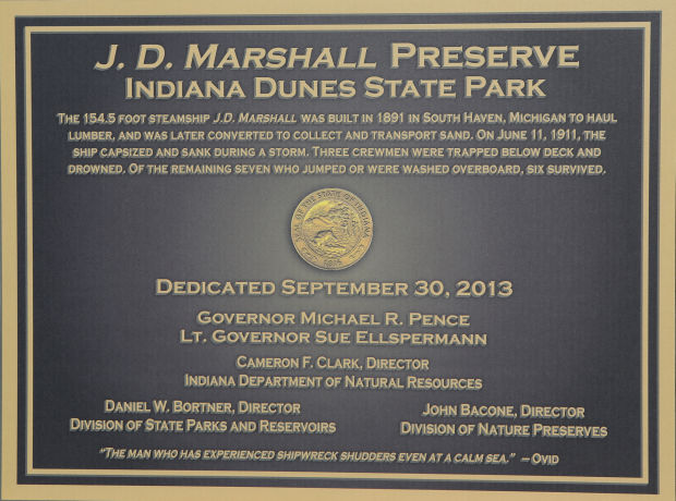 Dedication of the new J.D. Marshall Nature Preserve