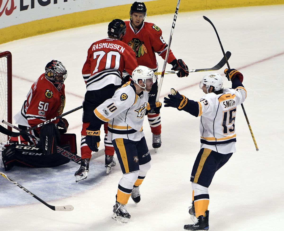 Predators Blackhawks Hockey