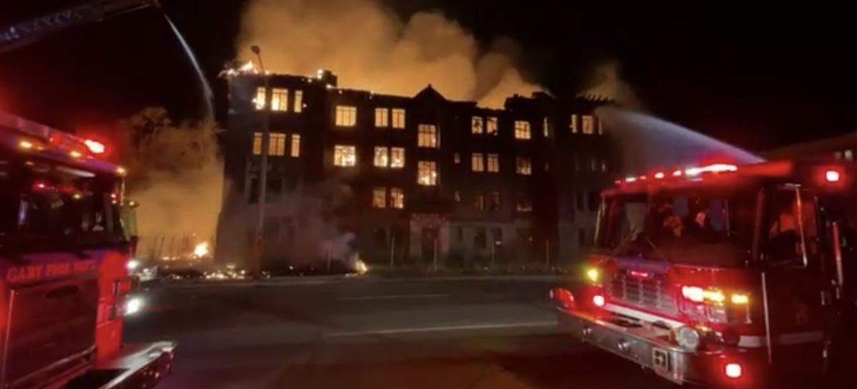 WATCH NOW: Firefighters battle massive blaze overnight