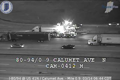 UPDATE: Semi removed from Borman Expressway after crashes