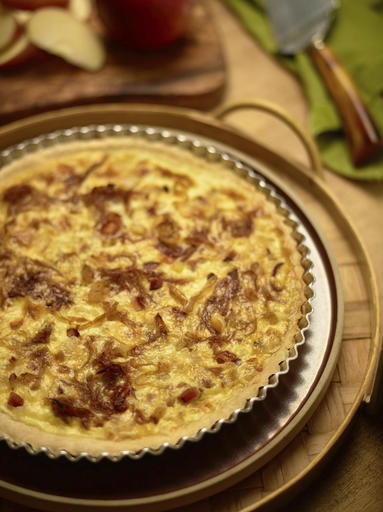 Try a caramelized onion tart that can ease holiday strain