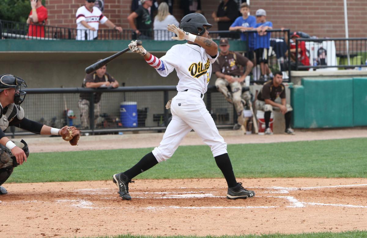 4175ac965135 college baseball  U.S. Military All-Stars vs Oilmen