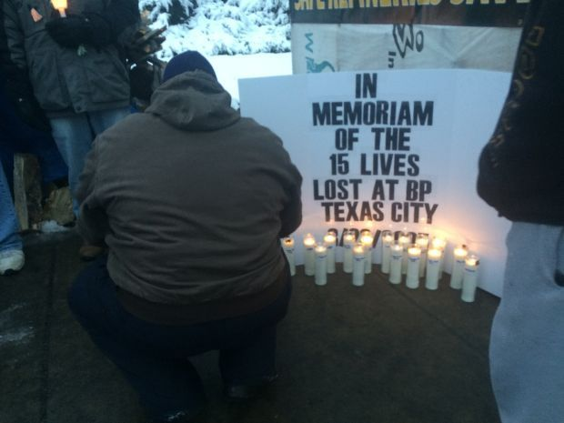 Vigil mourns 15 oil workers who died in Texas blast 10 years ago
