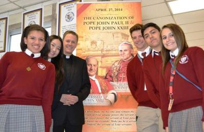 BNI students study historic canonization of two popes as saints
