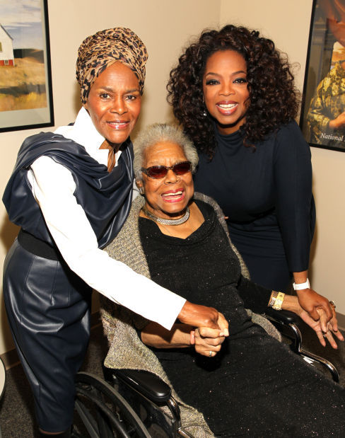 maya angelou center with cicely tyson and oprah winfrey in april
