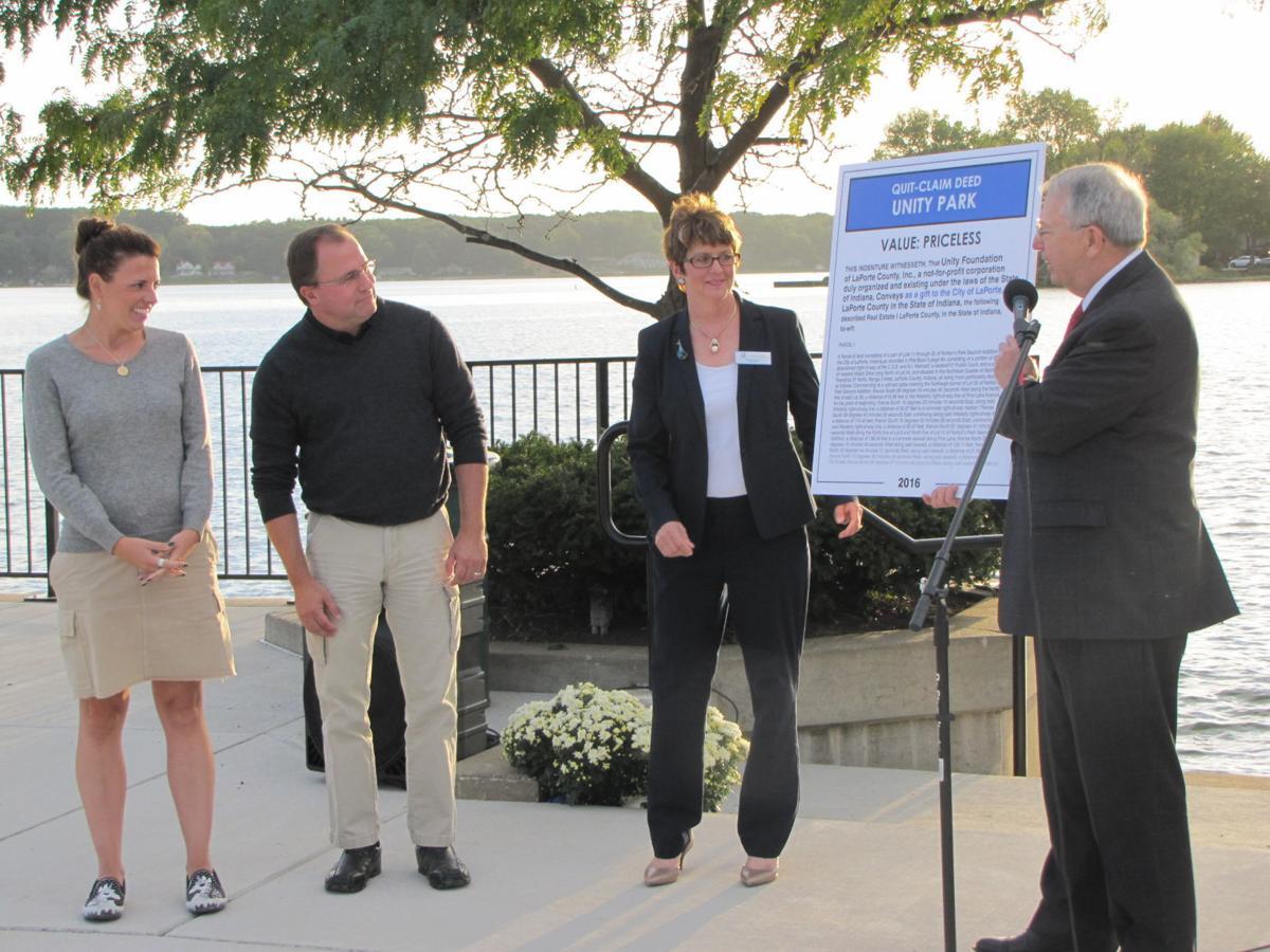 Laporte given lakefront park laporte county news for Laporte news