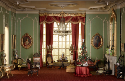 Victorian room at the Chicago Art Institute's Thorne Miniature Rooms