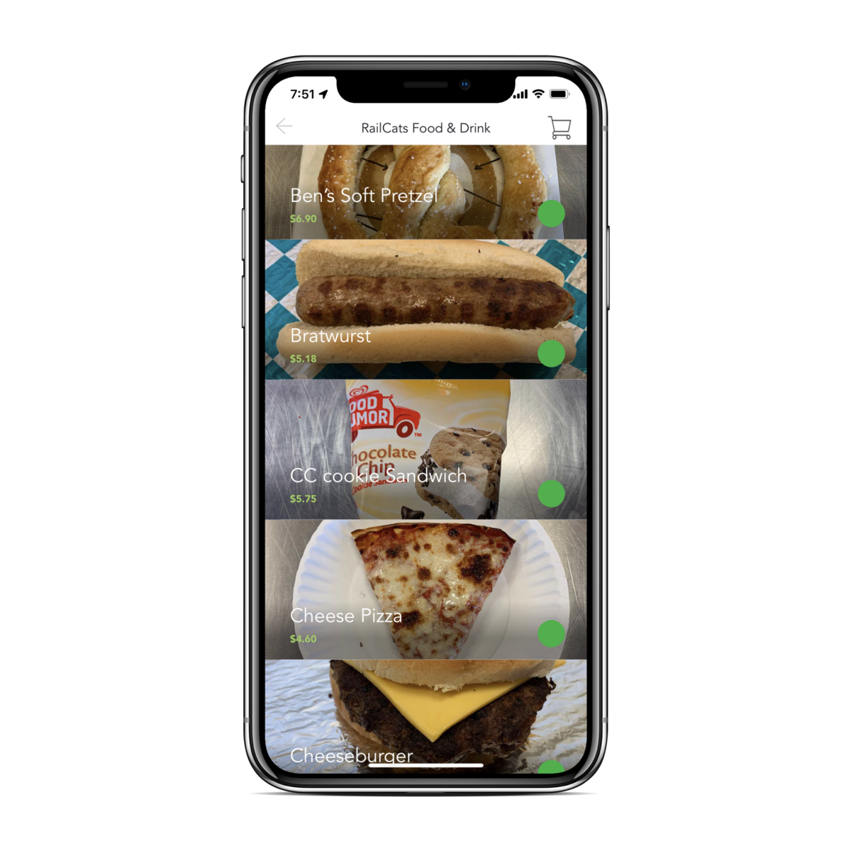 Tech startup designs in-stadium food delivery app to debut at Gary SouthShore RailCats game