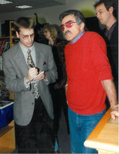 Times Columnist Phil Potempa interviewing Burt Reynolds in 1994