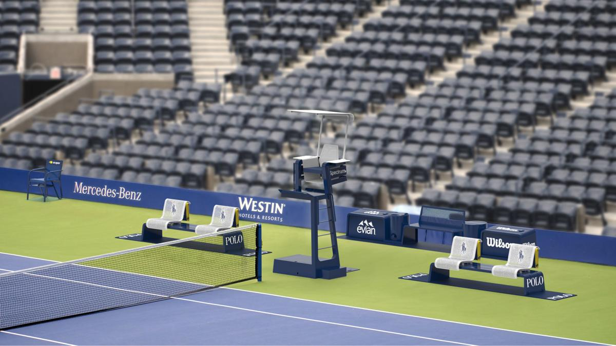 New US Open courtside furniture