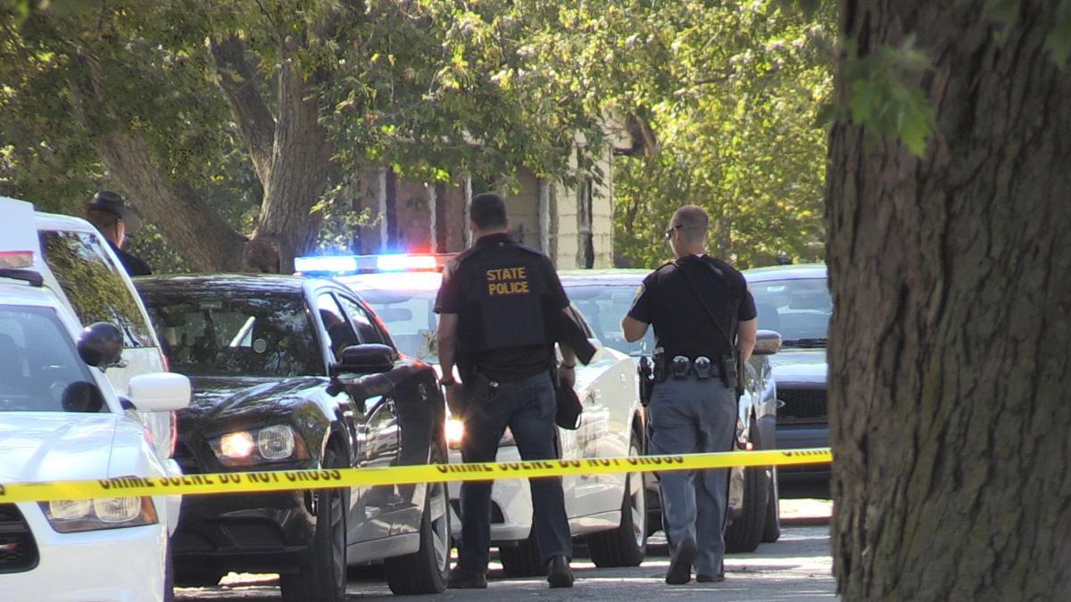 Police Investigate Crime Scene in Gary