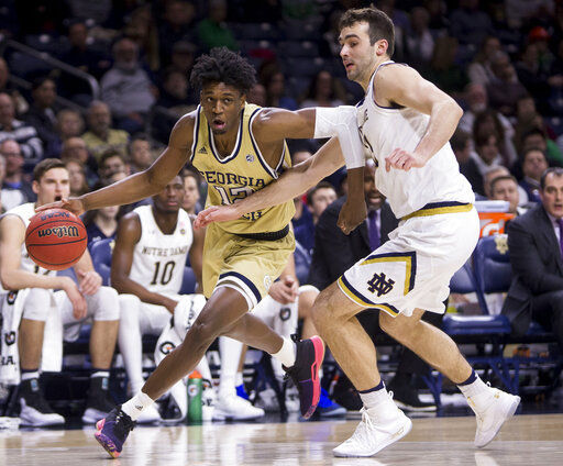 Gibbs and Harvey key 69-59 Irish victory over Georgia Tech