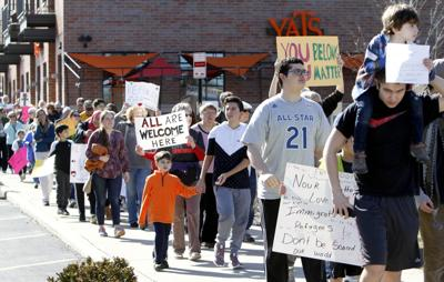 Citizens march, rally to reaffirm Valpo as 'welcoming city'
